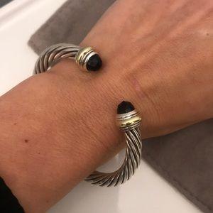 David Yurman Jewelry - David Yurman Onyx 7mm Cable Bracelet